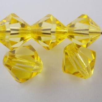 Бусины биконусы хрустальные Preciosa Shine Yellow 10мм. Упаковка 10шт. Скидки 60%
