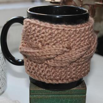 Чашка с чехлом, грелкой, теплушкой