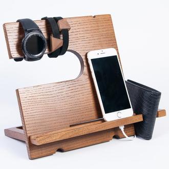 Подставка для телефона из дерева в офис Waid DS1 Ольха