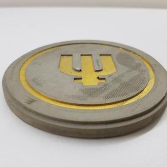 Primecoin подставка под чашку Primecoin из бетона - серый с золотым