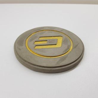 Dash подставка под чашку Dash из бетона - серый с золотым