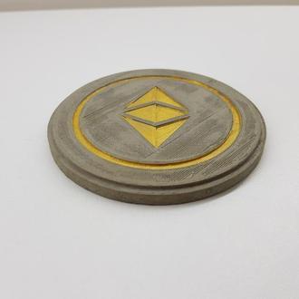Etherium подставка под чашку Etherium из бетона - серый с золотым