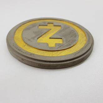 ZCash Подставка под чашку ZCash из бетона - серый с золотым
