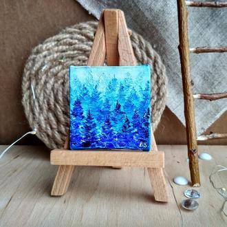 Зимний лес (миниатюра)