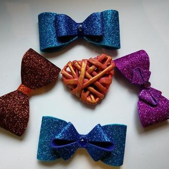 Краватки-метелики глитерный фоамиран для дітей