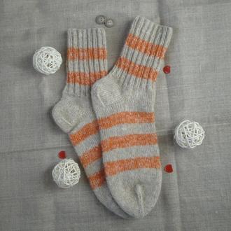 Вязаные шерстяные носки 38 размер