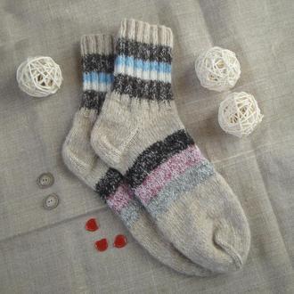 Вязаные шерстяные носки  36 размер