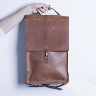 Кожаный рюкзак./ IN01001 коньяк