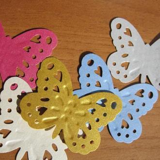 Бабочка ажурная бумажная для скрапбукинга