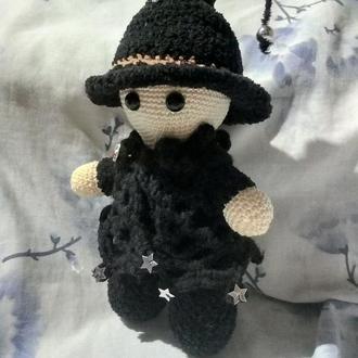 Йойо Пупс Колдунья + котелок в подарок, вязаная крючком, мягкая игрушка, амигуруми