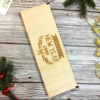 Новогодний набор деревянных игрушек 2019