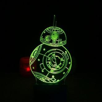 BB8 дроид, ночник светильник лампа, звездные войны, Star wars, подарок ребенку другу мужчине, декор