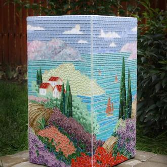 """Цветочник (бетон, мозаика """"Пейзаж"""")"""