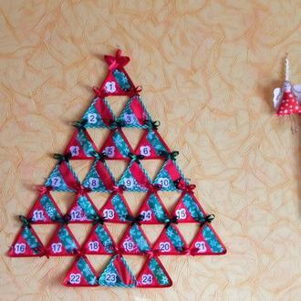 Адвент календарь Елка Адвент календарь Елочка Подарок на Рождество Ожидания Рождества