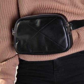 Стильная сумка на пояс и через плечо (кроссбоди)