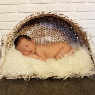 Корзина для фотосессий новорожденных полукруглая 35х50х29(19)см.