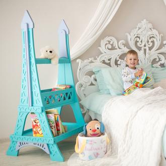 Стеллаж для книг детский Eiffel Tower (Paris, France), (Tiffany), Дерево, Коллекция Romantic