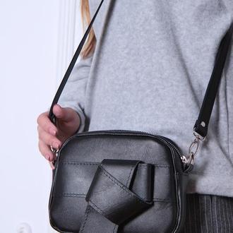 Стильная сумка кроссбоди из натуральной кожи