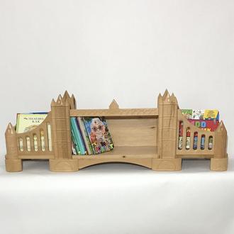 Книжная полка детская Tower Bridge (London, UK), (Wood), Натуральное дерево, Коллекция History