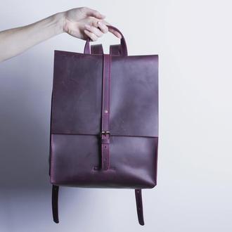 Кожаный рюкзак./ IN01002 бордо
