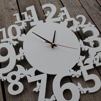 Настінний годинник з метеликами, нестенные часы с бабочками