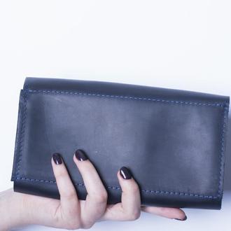 Кожаный кошелек./ IN08002 синий