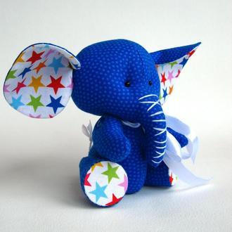 Синий слоненок, слон.