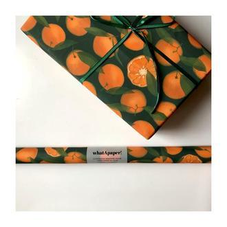 упаковочная бумага для подарков whatApaper! мандарины