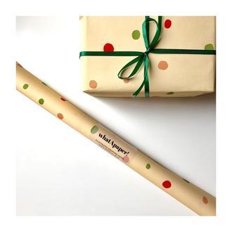 упаковочная бумага для подарков whatApaper! точки