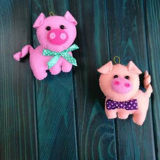 Свинка игрушка на ёлку
