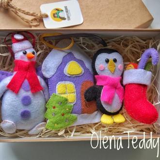 Игрушки из фетра на Новогоднюю Елку