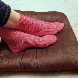 Носки плотной вязки с рисунком