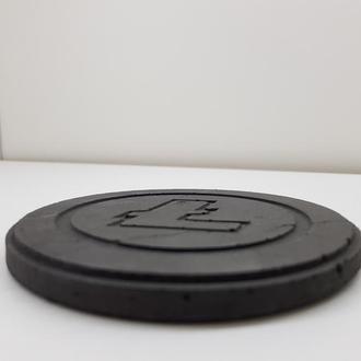 Litecoin подставка под чашку Litecoin из бетона - черный