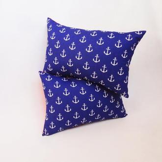 Декоративная подушка - якоря