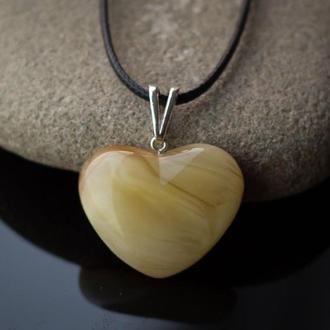 Подвеска из янтаря (Сердце)