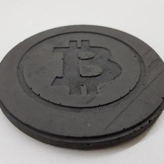 Bitcoin подставка под чашку Bitcoin из бетона - черный
