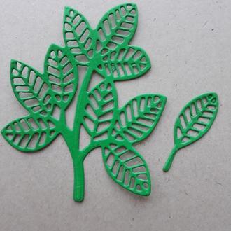 Бумажная вырубка листики 2