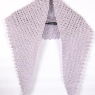 Шарф женский вязаный. В'язаний жіночий шарф. Плетений шарф. Осенний шарф.Платок под пальто.