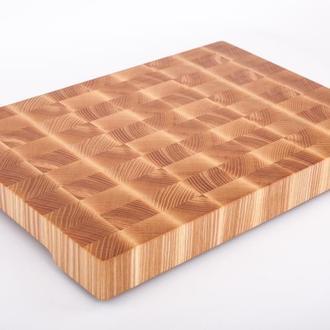 Кухонная торцевая разделочная доска 30х20х2,5 см из ясеня