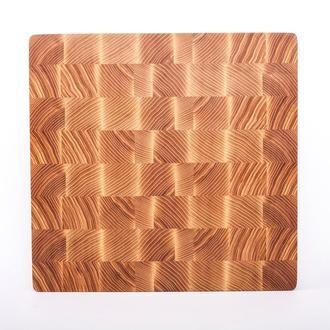 Кухонная торцевая разделочная доска LineWood 30х30х3 см из ясеня