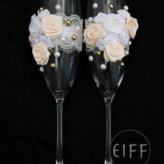 Свадебные бокалы для шампанского арт. 9001