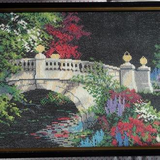 Вышивка крестом. Картина в рамке. 01-4 Белый мост.