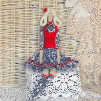Кукла в стиле Тильда Моника плюс БЕСПЛАТНЫЙ ПОДАРОК