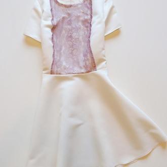 Эксклюзивное платье с кружевом от MELLOWsewing