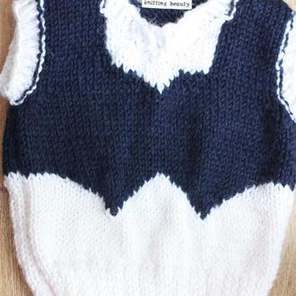 Безрукавка/ жилетка /джемпер для хлопчика / для мальчика  2-3 років