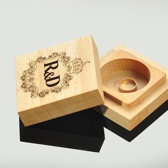 Деревянная подарочная коробка для украшений