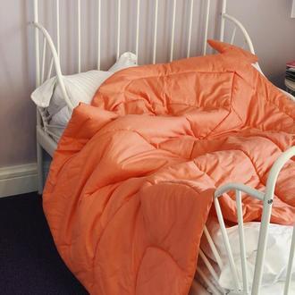 Покрывало одеяло-лист, плед, коврик для игр. Коврик - листик для детской.