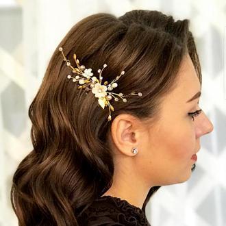 Свадебное украшение для волос, шпилька в прическу, заколка свадебная,украшение в прическу