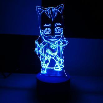 Кетбой, ночник, светильник, лампа, герои в масках, супергерои, игрушка, подарок мальчику