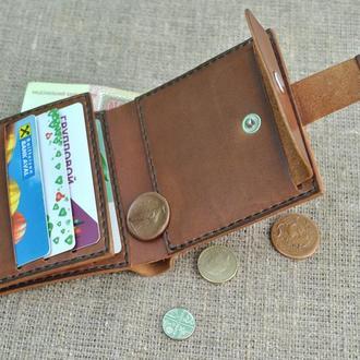 Квадратный кошелек из натуральной кожи K80-210